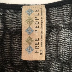 Free People Tops - Free People Black Shear Top Women's Size Small